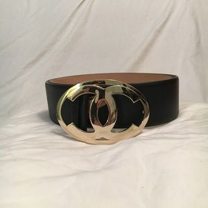 Chanel Ladies Belt With Chrome Silver Buckle